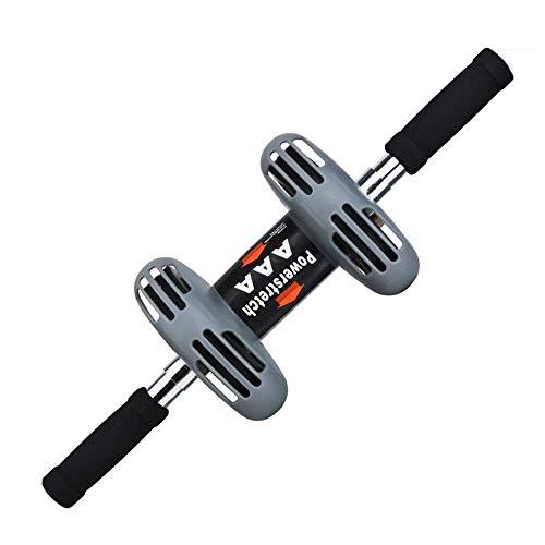 YF-SURINA Fitness und Bodybuilding Premium Ab Roller Wheel + Knieschoner für Bauchübungen - Zweirad-Fitnessgeräte - Perfekt für die Stärkung des Abdomens Tragbares Heim-Fitnessstudio, wie abgebildet,