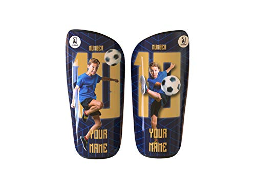 Younext Espinilleras de fútbol Personalizadas con tu Foto, Nombre y número