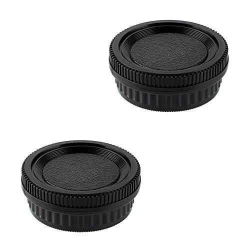 2 Pack Camera Body Cap & Rear Lens Cap Compatible for Pentax K Mount DSLR Camera and Lens for K10D K20D K100D K100D Super K110D K200D K-1 K-01 K-3 K-5 K-5 II K-7 K-30 K-70 K-P K-S2 D DS DS2 DL2 645D