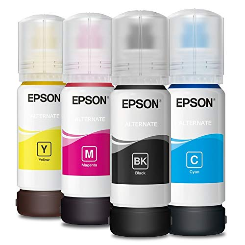Getsingular Tinta Epson 104 Originales - Pack de 4 Botellas de tintas (T00P140, T00P240 y T00P340, (T00P440) de 65 ml para impresoras EcoTank Epson | 4 Unidades
