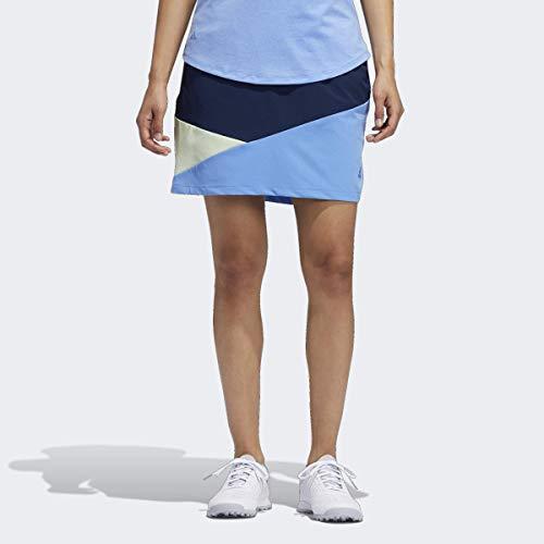 Adidas Falda Colorblocked para Mujer, Falda de Color Bloqueado, Night Indigo, Large