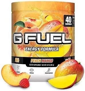 G Fuel Peach Mango Tub (40 Servings) Elite Energy and Endurance Formula