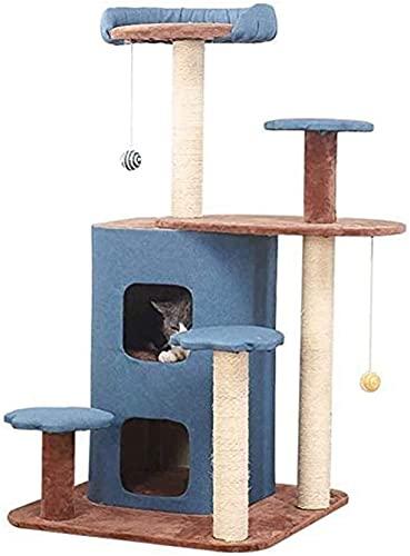 Columpio gato de niveles múltiples del gato árbol de la torre condominio de gato del árbol del gato del gato de la torre envuelta arañazos sisal Junta Torre de los Gatos Muebles for sala de juegos for