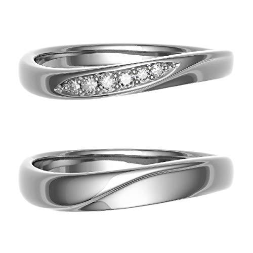 [ココカル]cococaru ペアリング 結婚指輪 シルバー 2本セット マリッジリング 日本製 (レディースサイズ10号 メンズサイズ7号)
