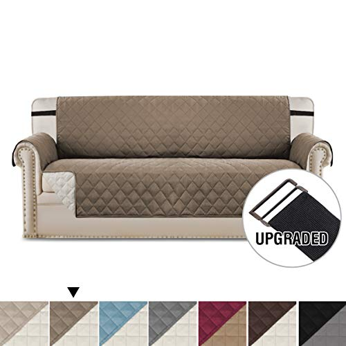 H.VERSAILTEX Reversible Sofa Slipcover Quilted Furniture Protector with 2'...