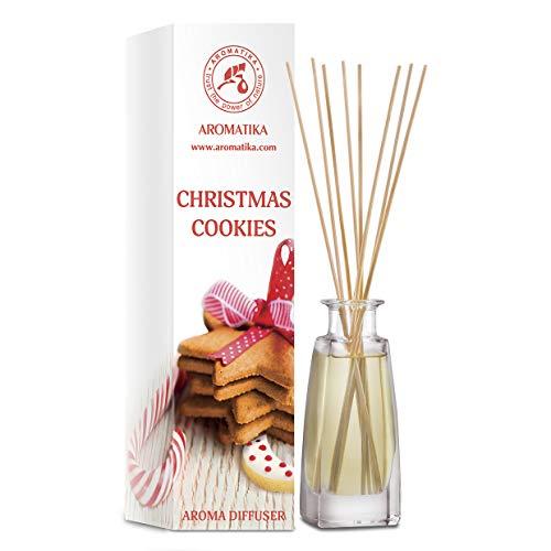 Diffuseur d'Arômes de Biscuits de Noël 100ml - Parfum Ambiance -Parfum de Maison- Désodorisant - Diffuseur Parfumé de Biscuits de Noël - Cadeau de Noël
