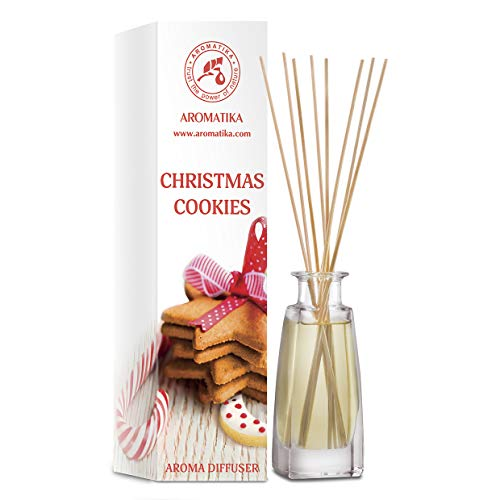Christmas Cookies Reed Diffuser 100ml - Home Fragrance Made with Nice Oils - Great Idea for Mom, Dad, Wife or Husband - Best for Aromatherapy