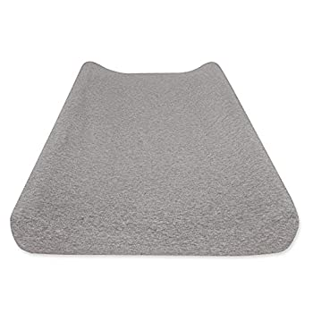 Burt s Bees Baby - Changing Pad Cover 100% Organic Cotton Changing Pad Liner for Standard 16  x 32  Baby Changing Mats  Heather Grey Solid Color