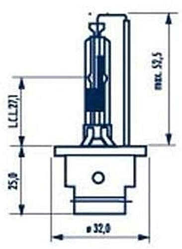 1x D2R (lampe à décharge) NARVA 85V 35W P32d-3 84006