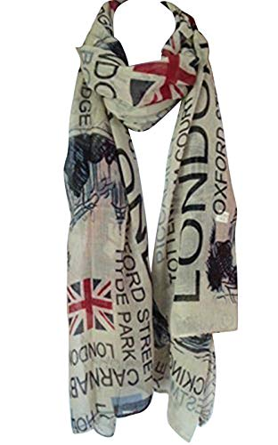 Tiny Susie Union Jack Scarf London Souvenir Gift Soft and Oversize Fashion Scarf
