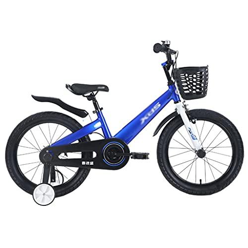 ZXQZ Bicicleta para Niños Bicicleta de 16/18 Pulgadas de 5 A 10 Años para Niños y Niñas (Color : Blue, Size : 16 Inches)