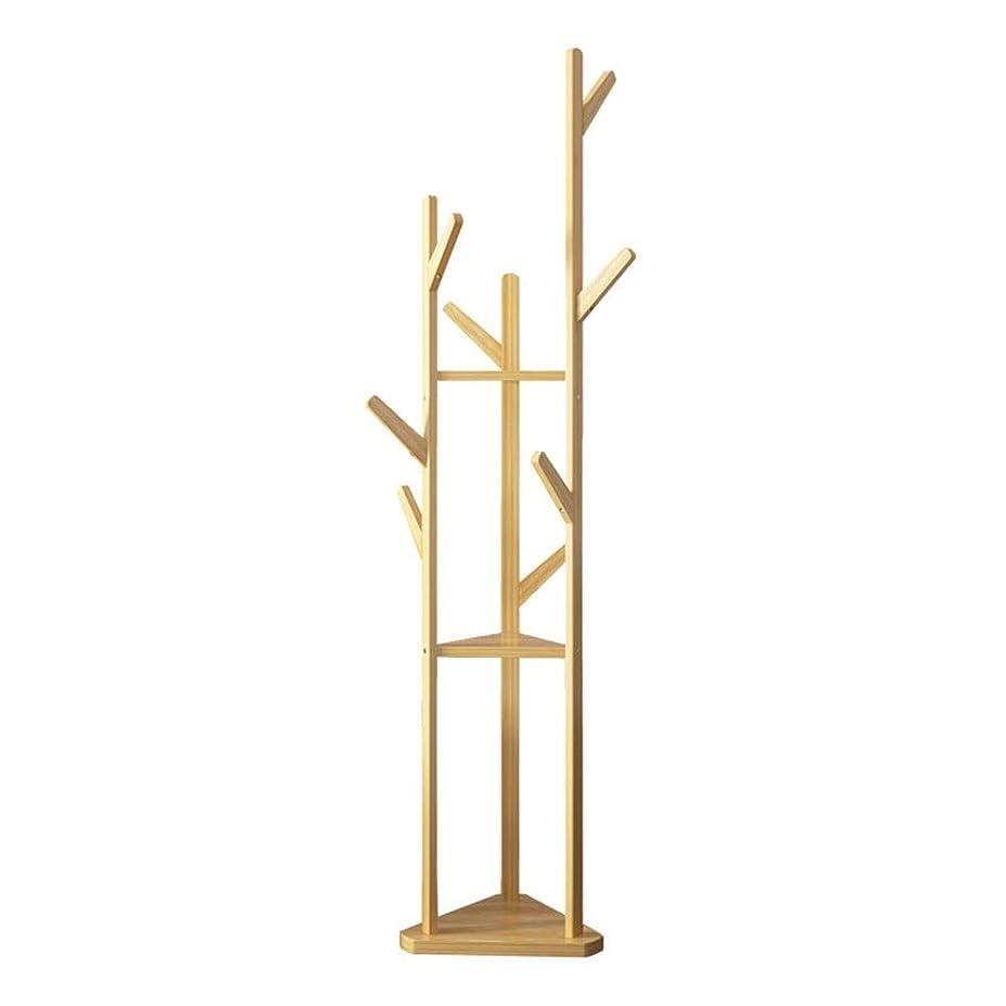 序文効率的に壁コートハンガー シンプルな竹のコートラックの床シンプルな布帽子ラック寝室コーナーコートツリー現代の衣服ラック
