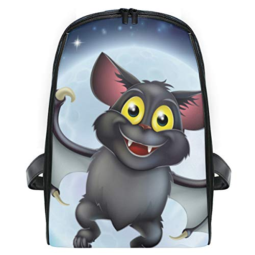ELIENONO Karikatur-Illustrations-Vampirs-Schläger-Charakter-Fliegen,Laptop Rucksack für Männer Schulrucksack Multifunktionsrucksack Mini Tagesrucksack für Schule Wandern Reisen Camping
