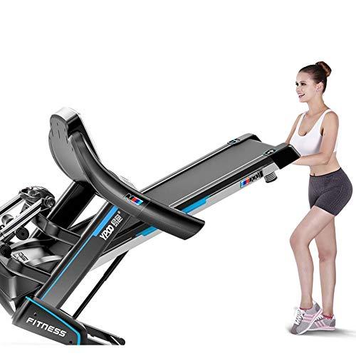 Cinta de correr eléctrica, plegable, 15 ajustes de velocidad, instalación portátil, elevación eléctrica, ajuste de inclinación para deporte familiar