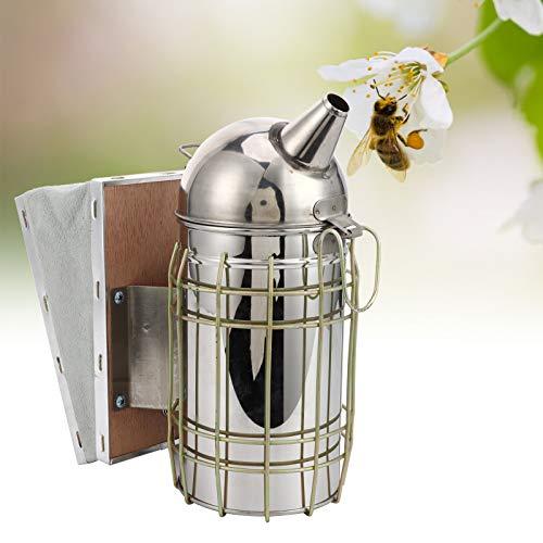 Plyisty Ahumador de Colmena de Abejas, ahumador de Colmena de Acero Inoxidable, Suministros y Equipo de Apicultura con Escudo térmico, para Apicultura
