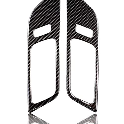 YFBB Etiqueta engomada del Emblema de la Cubierta de la decoración de la dirección de la Fibra de Carbono Real, para Ford Mustang 2015-2017