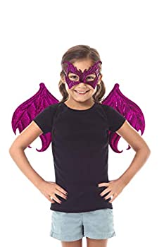 Little Adventures Reversible Dragon Mask and Wing Sets for Boys & Girls - Pink/Magenta