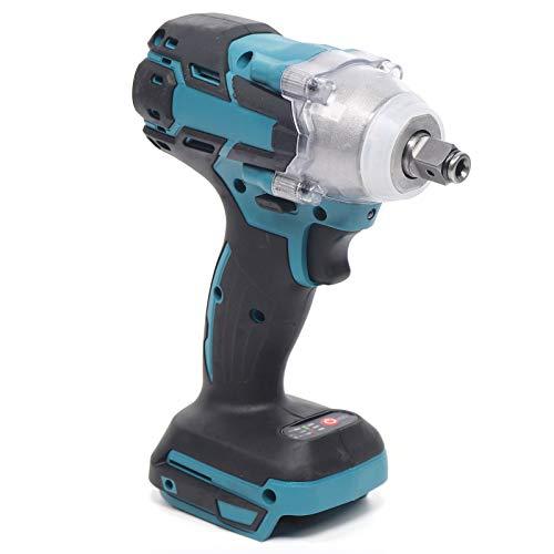 Atornillador de impacto con batería, 1/2', 520 Nm, destornillador de carraca, compatible con Makita 18 V