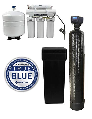 DuraWater 5600sxt Fleck 5600 SXT Metered Softener Reverse Osmosis (48,000 Grain 1 Inch Bypass) Combo System, Black