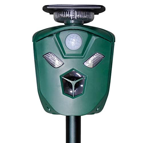 猫よけ 猫撃退 動物撃退 360度動物よけ 超音波 赤外線センサー USB充電 全方位ソーラーアニマルブロッカー1個 360度防御 アラーム音選択
