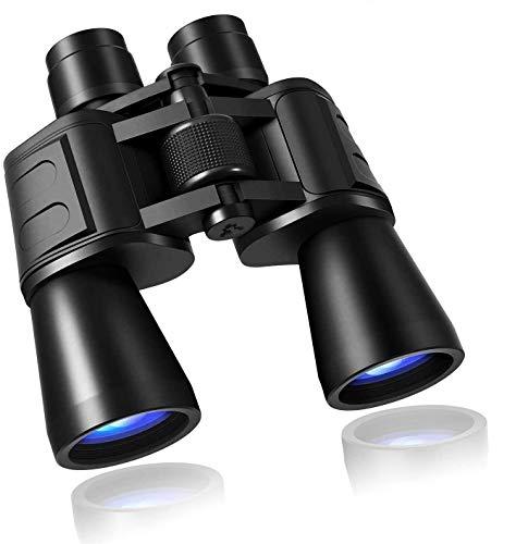 Prismáticos 10 x 50 para adultos, potentes prismáticos transparentes de tamaño completo para observación de aves, impermeables,...