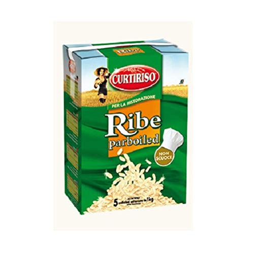 Curtiriso Riso Ribe Parboiled 5 Beuteln 1 kg Italienisch Reis