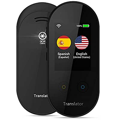 ANFIER Language Translator Device with AI Voice Translator (W08) with 2.4 inch Touchscreen Image Translation-108 Languages and Two Way Translator |Wi-Fi|-Black from ANFIER