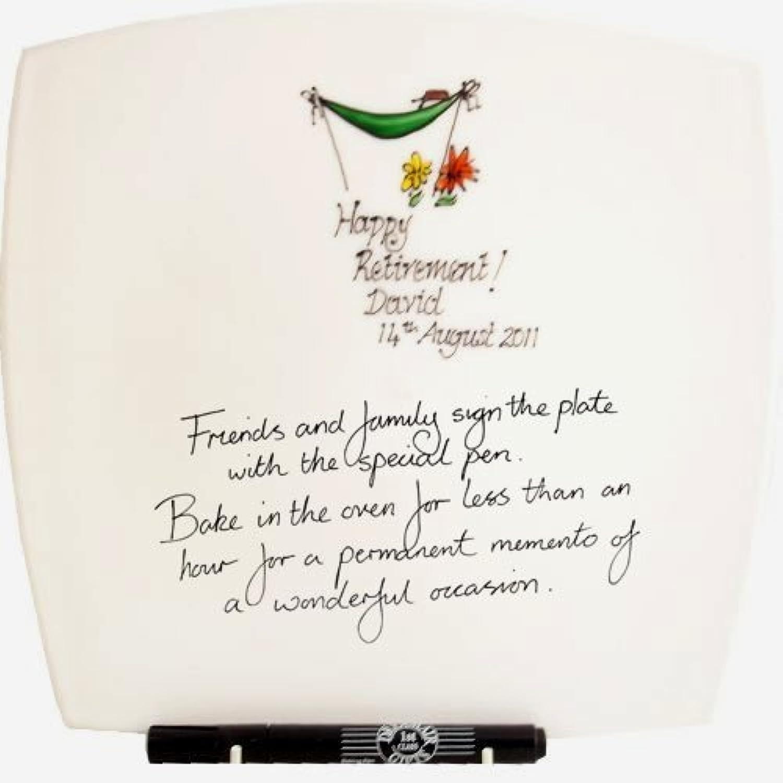 mejor marca Personalizado Regalo de de de Jubilación Firmado y Sellado Plato Cuadrado Máximo 25 Charac  comprar ahora
