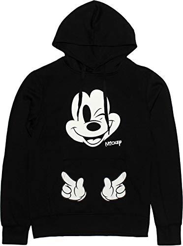 Disney Mickey Mouse Damen Wink Pullover Mit Kapuze Schwarz L