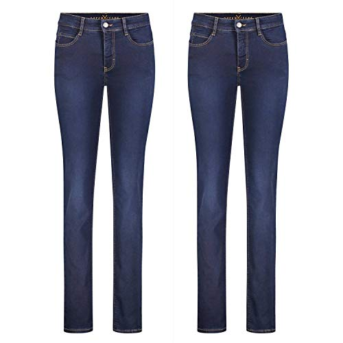 MAC Dream - 2er Pack Damen Jeans Hose Verschiedene Farbvarianten, Größe:W44/L32, Farbe:D826