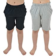 BOYS SHORTS: this multi-pack is perfect for your son from age 5 (up to 13 year old teenagers), with their cool casual style, and wearable black, navy and grey colours. Team up with t-shirts, polo shirts and trainers for a casual look for the weekend....