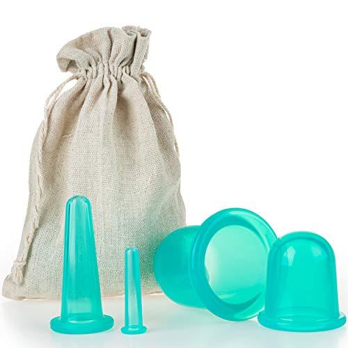 PhysioSpirit PREMIUM Schröpfgläser - hochwertige Saugglocken für jede Körperstelle - Schröpfglocken gegen Cellulite - Schröpfen ohne Verspannungen - 4er Set