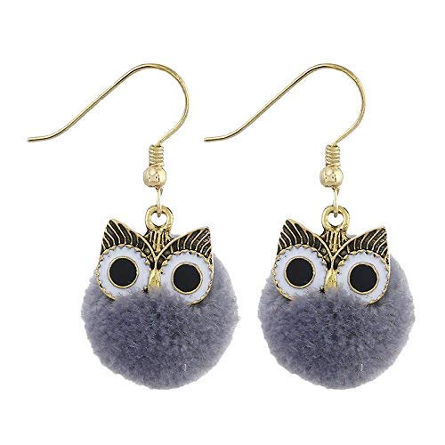 Orecchini a sfera in pelliccia di visone dolce da studente di gatto orecchini di perle di pelliccia di visone
