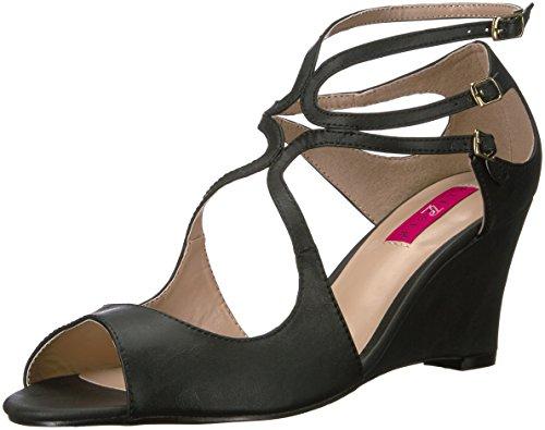 Pleaser Pink Label Damen Kim04 / Bpu Keilabsatz Sandale Schwarz Kunstleder 9 M US