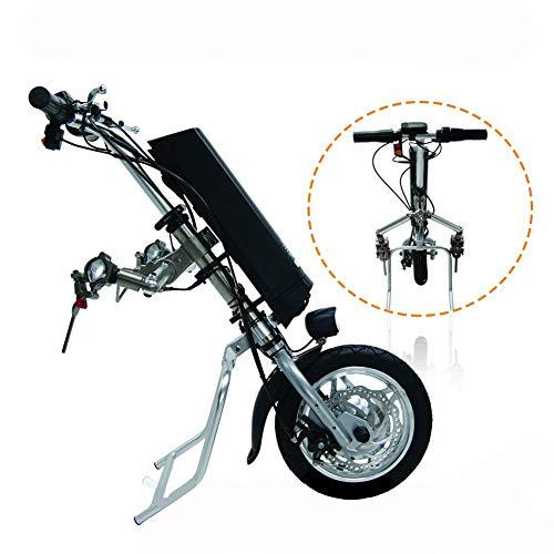 GMtes Elektro-Rollstuhl Traktor Handcycle Handbike DIY Elektro-Rollstuhl-Umrüstsätze Antriebskopf für Behinderte Auto,8Ah