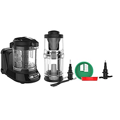 Ninja Food Processor with 400-Watt Base, 32-Ounce Precision Processor Bowl and Spiralizer, Black (Renewed)