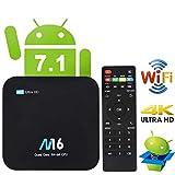 TV Box Android 7.1 - VIDEN Smart TV Box Amlogic S905X Quad Core, 2GB RAM & 16GB ROM, 4K*2K UHD H.265, HDMI, USB*2, 2.4GHz WiFi, Bluetooth 4.0, Web TV Box, Android Set-Top Box + Control Remoto