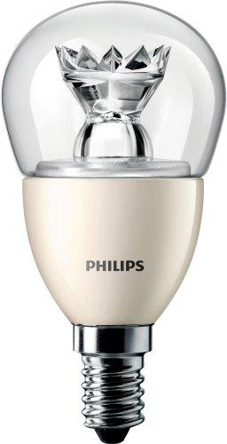 Philips Master Ampoule LED en forme de balle de golf brillante à intensité réglable avec petit culot à vis Edison E14-6 W (équivaut à 40 W), E14, 6 wattsW 230 voltsV