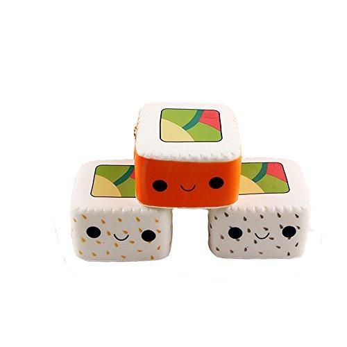 Lance Home® 2pz Kawaii Sushi Emoji Espressione Morbido Simulata Adorable Espressione Pendenti Portachiavi Telefono Catena Ornamenti Cinghie Accessori Colore Casuale