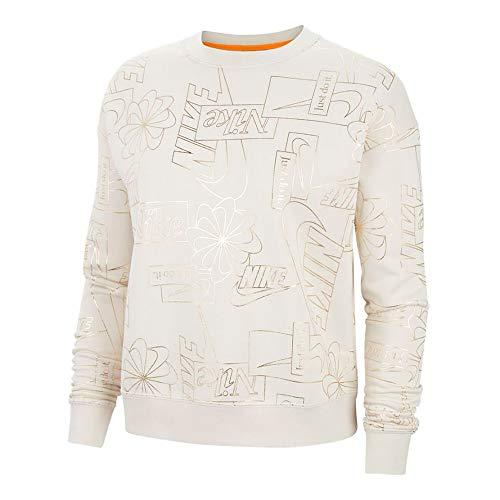 Nike Icon Clash Fleece Aop Sweatshirt Femme Sweatshirt Femme Beige FR : L (Taille Fabricant : L)