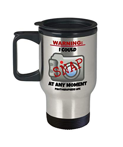 HilariousProducts wedding Photographer funny travel mug best gift for friend or family member who loves camera work