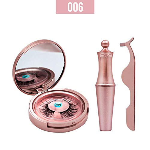 1 Paire Eye-liner Magnétique Aimant Liquide Kit Faux Cils Maquillage Réutilisable Cils Artificiels 3D Longue Épaisse Doux Réutilisable Wispy Faux Cils Longue Durée Imperméable À L'eau Léger