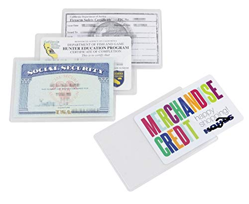 SMCU 6 Pack Social Security Card Holder Protector Sleeves, Clear PVC Soft Waterproof Medicare Card Protector Credit Card, Business Card, Heavy Duty Card Sleeves