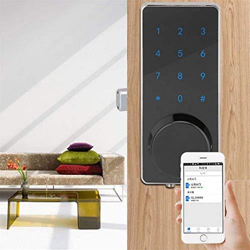Cerradura huellas dactilares, cerradura puerta inteligente con código anti-pío habilitado para Bluetooth Bloqueo automático Funciona con iOS y Android para la oficina en casa Apartamento en garaje