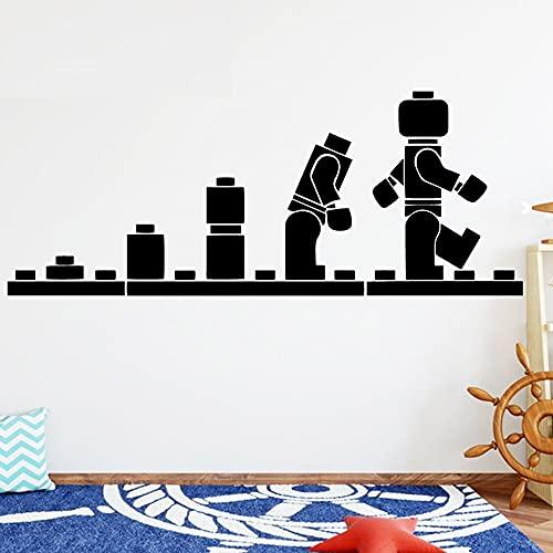 Jsnzff 112x45cm Robot Tatuajes de Pared decoración de la Familia habitación de los niños Pegatinas de Pared Papel Tapiz Impermeable