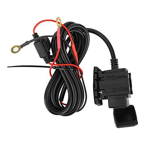 cloudbox Cargador de Motocicleta Cargador USB Impermeable para Motocicleta 5V 2.1A Adaptador de Corriente para teléfono Carga rápida