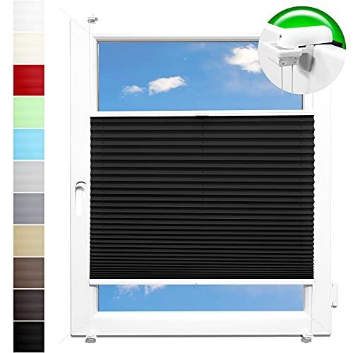 Pliseerollo Plissee Ohne Bohren plissiert Fensterrollo Klemmfix Faltrollo Jalousie Sonnenschutz Lichtdurchlassig 115x180 cm