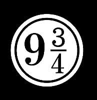 ハリーポッター Harry Potter 9と3/4番線 ロゴ マーク ステッカー シール  ホワイト