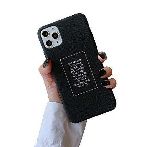 ABCase iPhone 11 Fall Simple English Telefon-Kasten-Abdeckung Klar Design Anti-Scratch Stoß- weiche Flexible TPU-Schutzhülle,iphoneX/XS