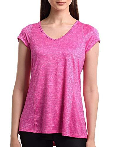 Camiseta deportiva para mujer de secado rápido, manga corta